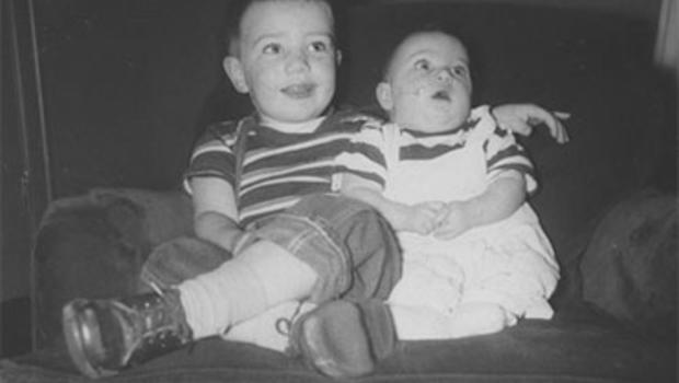 Jeff Daly and his sister Molly in the 1950s