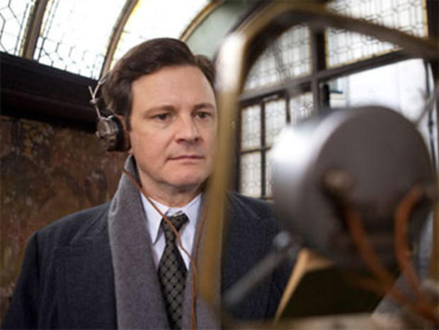 "Colin Firth as the British monarch King George VI, in ""The King's Speech."""