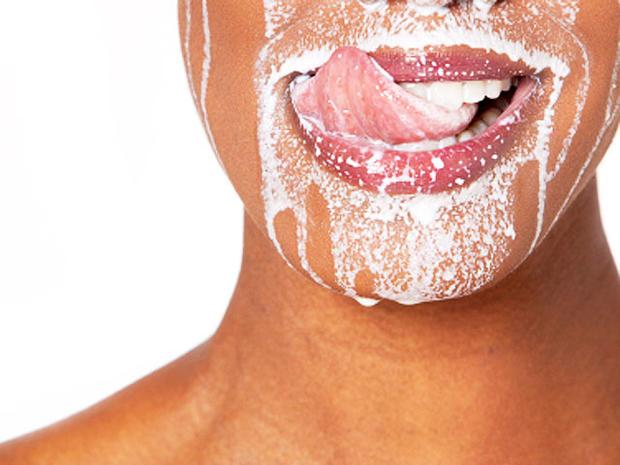 woman milk mustache
