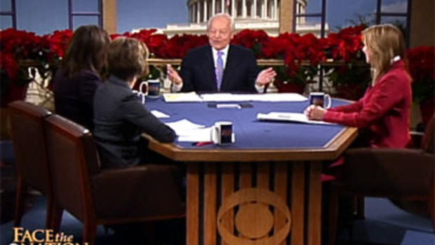 """""""Face the Nation"""" host Bob Schieffer assembled a round table of CBS News correspondents for the traditional year-end show."""