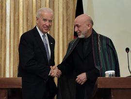 Joe Biden, Hamid Karzai, Afghanistan