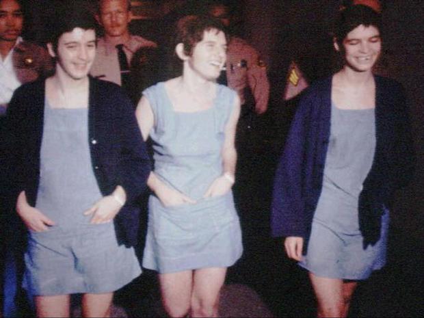 Susan Atkins, Patricia Krenwinkel and Leslie Van Houten