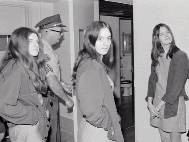 Leslie Van Houten, Susan Atkins and Patricia Krenwinkel