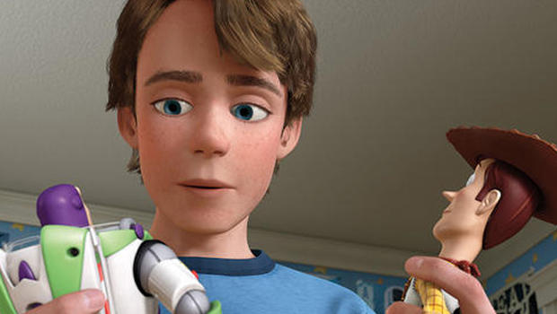 """Andy inspects his toys in """"Toy Story 3."""""""