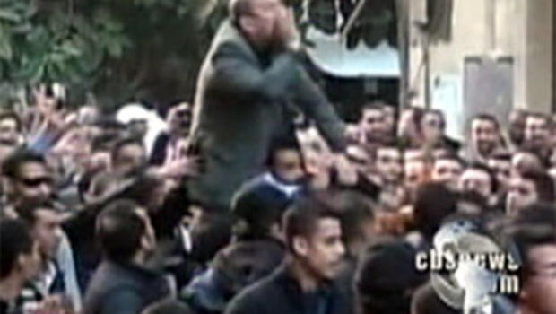 In Egypt, protesters again called for the removal of President Hosni Mubarak Jan. 27, 2011.