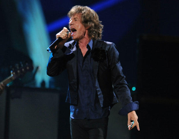 ick Jagger of The Rolling Stones performs onstage at the 25th Anniversary Rock & Roll Hall of Fame Concert  Oct. 30, 2009, in New York. (Photo by Stephen Lovekin/Getty Images)