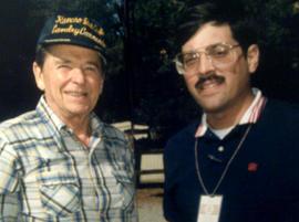 Ronald Reagan and Peter Maer