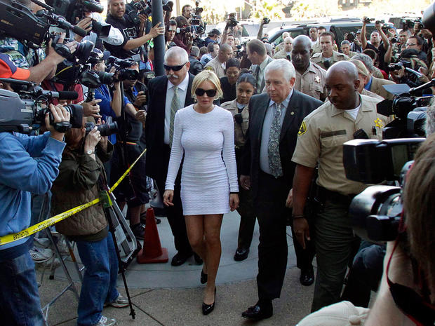 Lindsay Lohan arrives in court on Feb. 9, 2011, in Los Angeles.