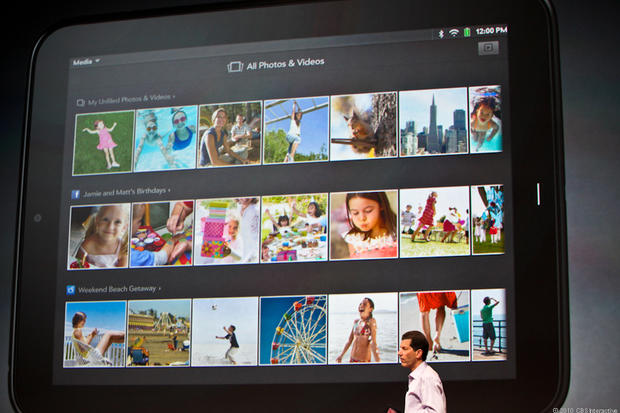 Photo browsing on the HP TouchPad.