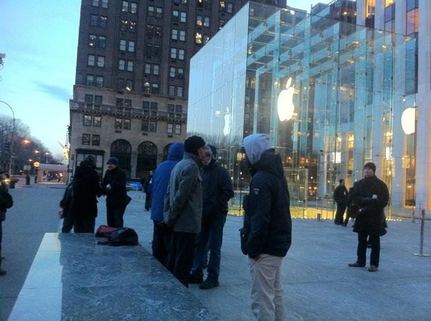 Apple Store, Manhattan, early a.m.