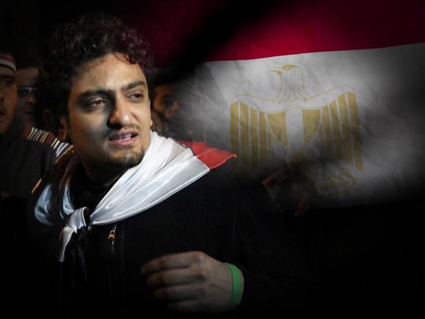 Wael Ghonim over Egypt flag
