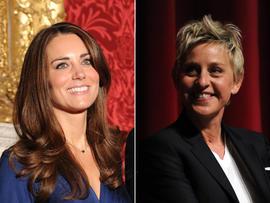 Kate Middleton and Ellen DeGeneres