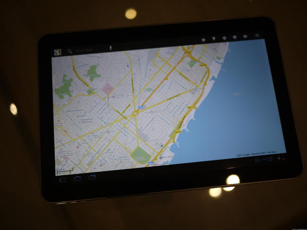 Google Maps - Samsung Galaxy Tab 10.1 - Pictures - CBS News on google lightning map, google classic map, google kingston map, google solar system map, google pluto map, google venus map, google transit map, google sky map, google space map, google jupiter map, google explorer map, google universe map,