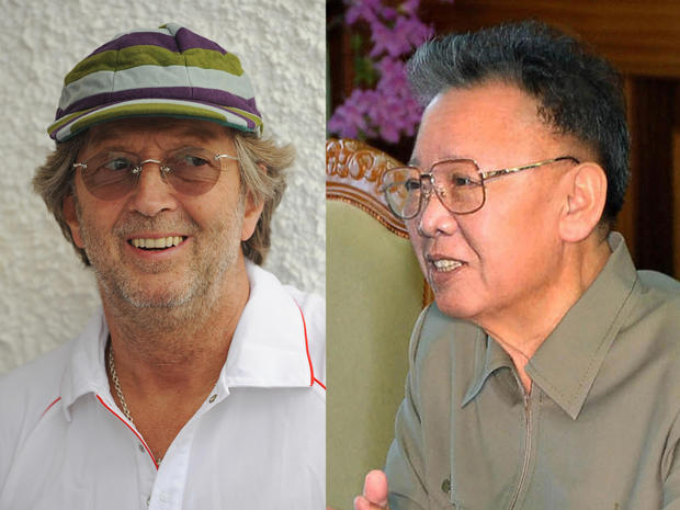 North Korean leader Kim Jong and rock guitarist Eric Clapton