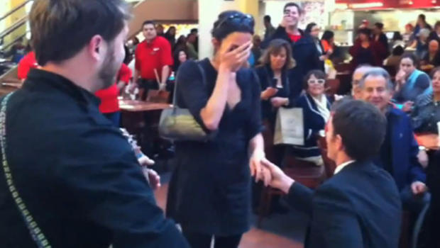 Food Court Wedding Proposal Gone Bad Video Cbs News