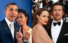 President Barack Obama, Michelle Obama,Angelina Jolie and Brad Pitt