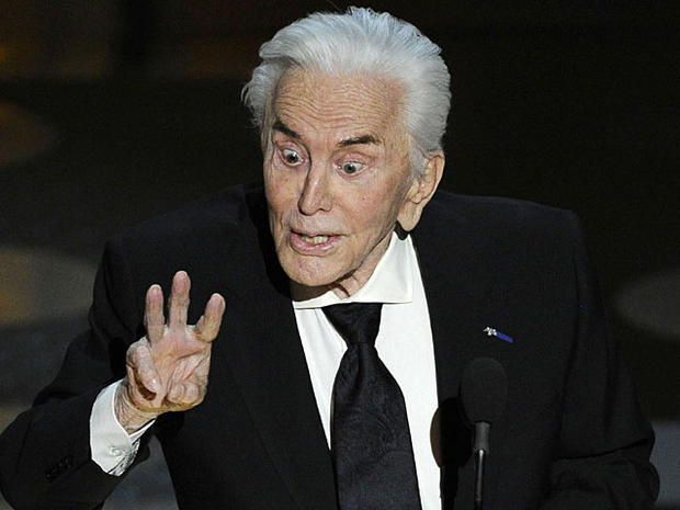 Actor Kirk Douglas presents the award for best supporting actress during the 83rd Academy Awards on Feb. 27, 2011, in Los Angeles.