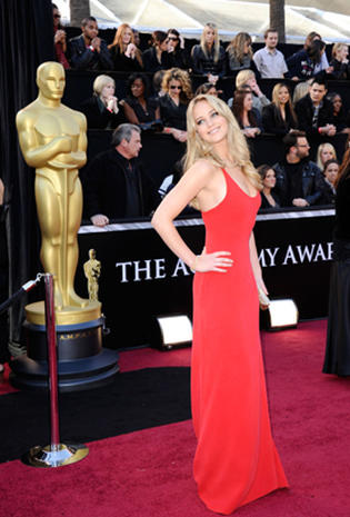 2011 Oscar red carpet