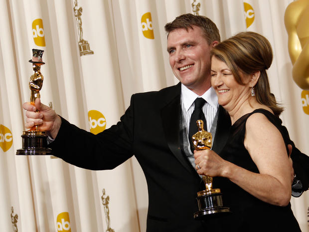 2011 Oscar winners in the press room