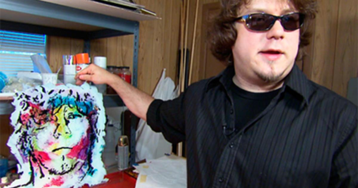 Blind Artist Paints A Colorful World CBS News - Blind artist