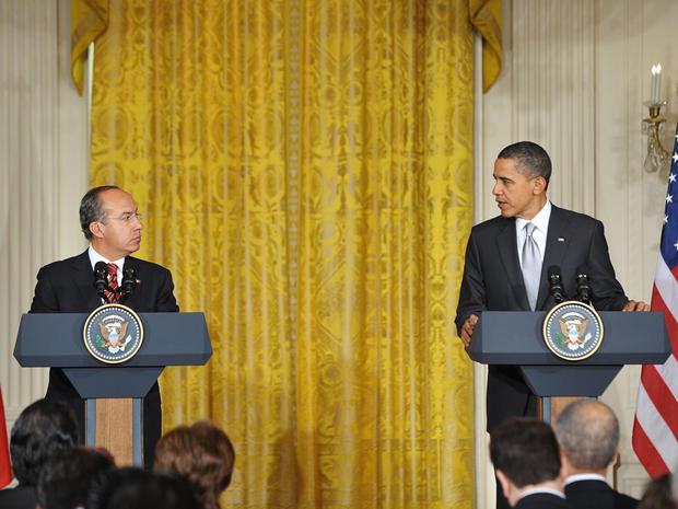 U.S. President Barack Obama and Mexican President Felipe Calderon