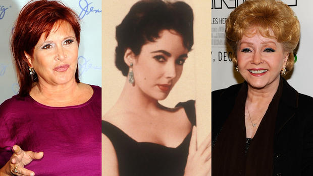Young Debbie Reynolds And Elizabeth Taylor Carrie Fisher and Debb...