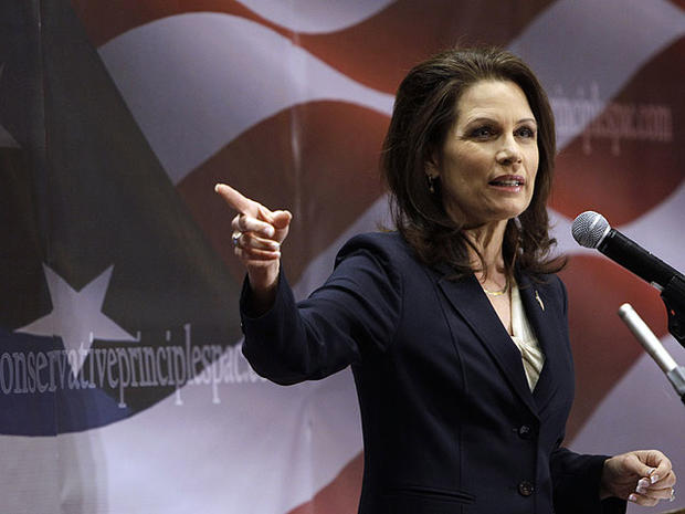 U.S. Rep. Michele Bachmann, R-Minn., speaks during the Conservative Principles Conference hosted by U.S. Rep. Steve King, R-Iowa, March 26, 2011, in Des Moines, Iowa.