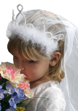 Adorable royal wedding dress-up
