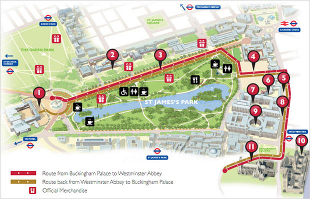Map Follow The Royal Wedding Procession Cbs News