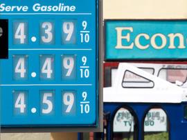 Valero gas station price board
