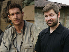 Tim Hetherington, left, and Chris Hondros
