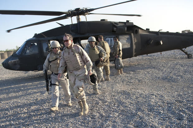 Adm. Mike Mullen, chairman of the Joint Chiefs of Staff arrives at Forward Operating Base Jackson, Afghanistan on April 19, 2011.
