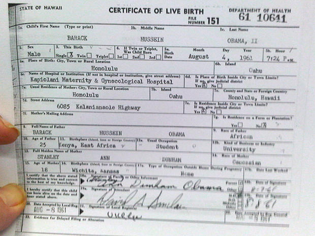 will obama birth certificate release put the issue to rest? - cbs news