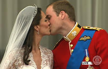 Prince William and Kate Middleton's balcony kiss