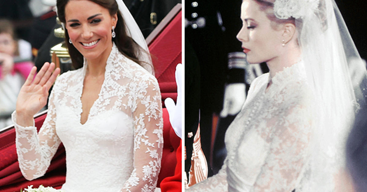 Grace Kelly seen as inspiration for Kate Middleton\'s gown - CBS News