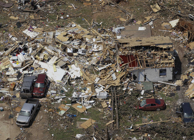 Tornadoes' apocalyptic aftermath