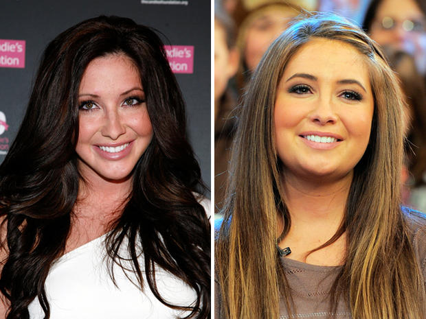 Bristol Palin on May 3, 2011, left, and on Nov. 24, 2010.