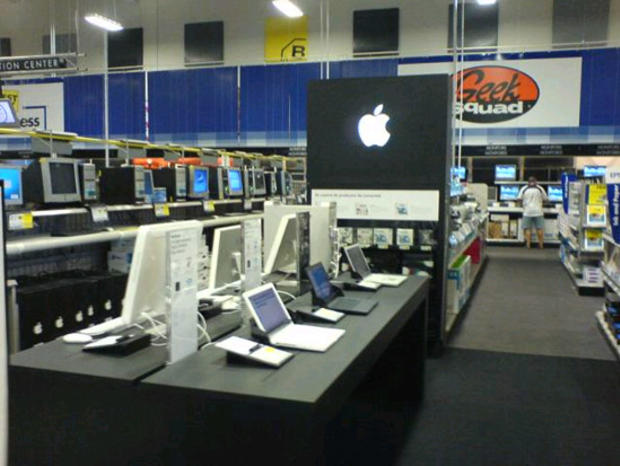 """An Apple """"store within a store"""" in Best Buy circa 2006."""