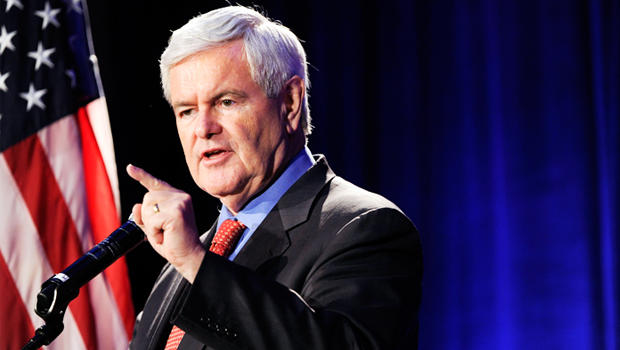 Newt Gingrich speaks to the Georgia Republican Party, Friday, May 13, 2011, in Macon, Ga. Gingrich recently announced he would seeking the party nomination for President.