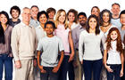diverse, population, people, ethnic, crowd, group, america, stock, 4x3