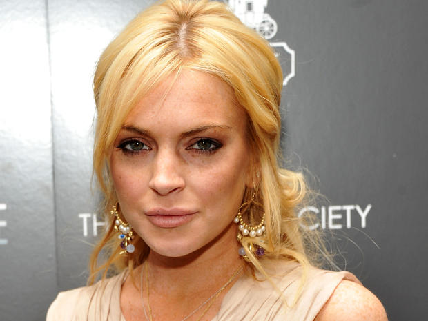 "Lindsay Lohan at the Cinema Society & Coach screening of ""Source Code""  on March 31, 2011, in New York."