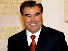 Tajikistan President Emomali Rahmon in 2009