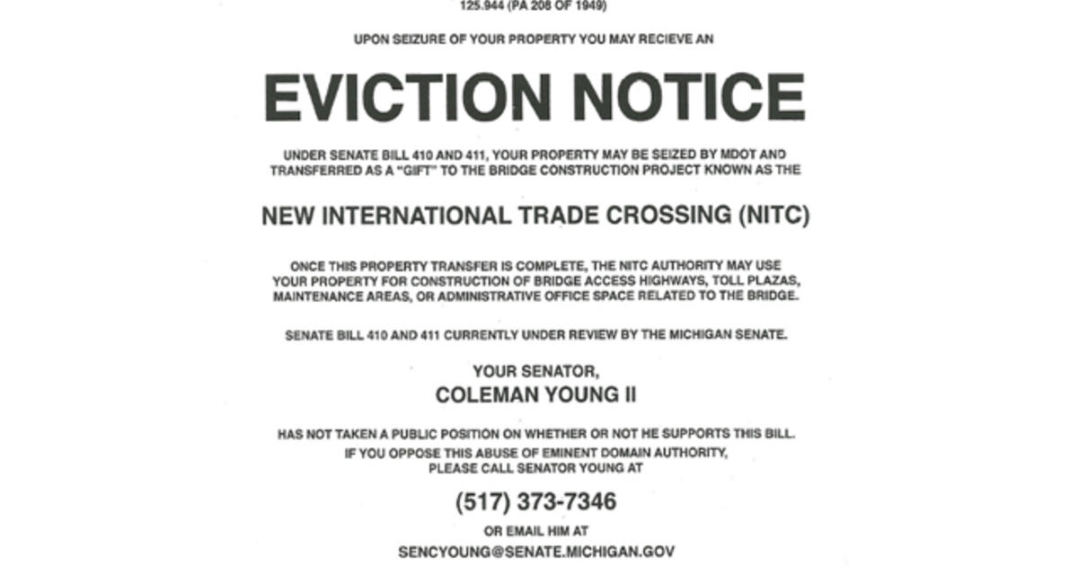 KochBacked GroupS Fake Eviction Notices Rile Up Detroit  Cbs News
