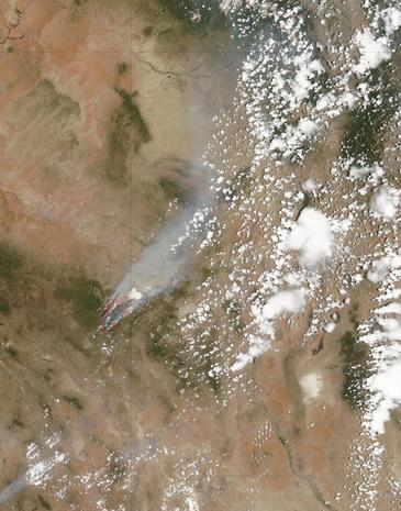 Tracking the wildfire devastation from space