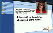 Journalists pounce on Palin's e-mails