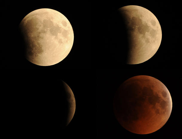 Lunar eclipse: Sights to remember