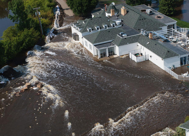 The flooding in Minot, N.D.