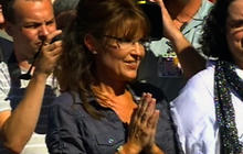 Palin arrives at Iowa movie premiere