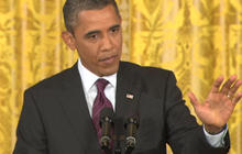 Obama touts gay rights credentials