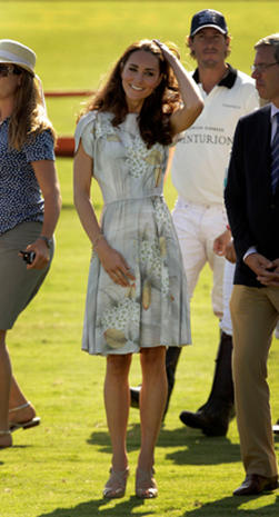 William and Kate attend charity polo match